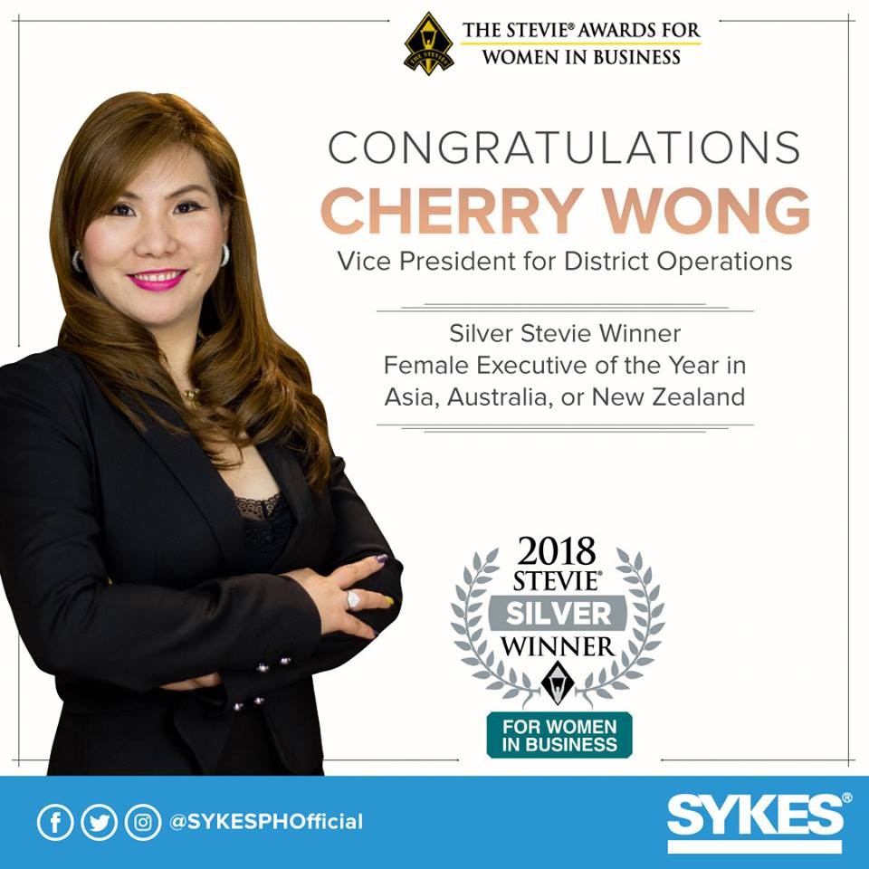 SYKES' Cherry Wong Wins for Female Executive of the Year