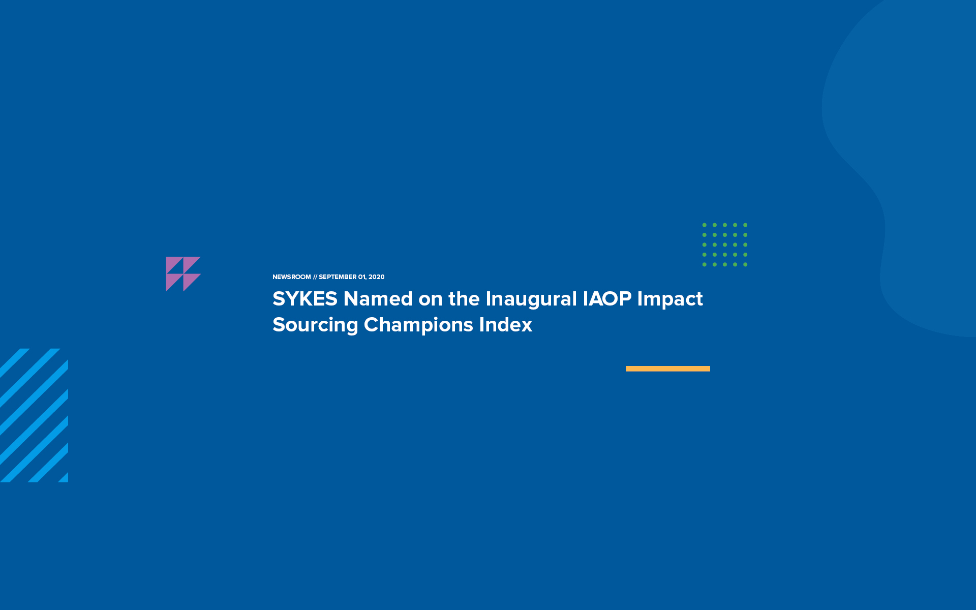 SYKES Named IAOP Impact Sourcing Champion